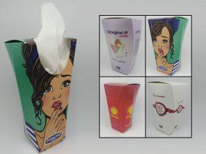 car cup tissue box